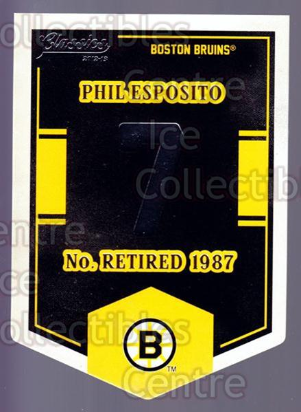 2012-13 Classics Signatures Banner Numbers #13 Phil Esposito<br/>2 In Stock - $3.00 each - <a href=https://centericecollectibles.foxycart.com/cart?name=2012-13%20Classics%20Signatures%20Banner%20Numbers%20%2313%20Phil%20Esposito...&quantity_max=2&price=$3.00&code=653929 class=foxycart> Buy it now! </a>