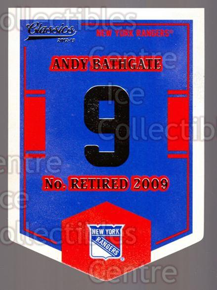 2012-13 Classics Signatures Banner Numbers #51 Andy Bathgate<br/>7 In Stock - $3.00 each - <a href=https://centericecollectibles.foxycart.com/cart?name=2012-13%20Classics%20Signatures%20Banner%20Numbers%20%2351%20Andy%20Bathgate...&quantity_max=7&price=$3.00&code=653967 class=foxycart> Buy it now! </a>