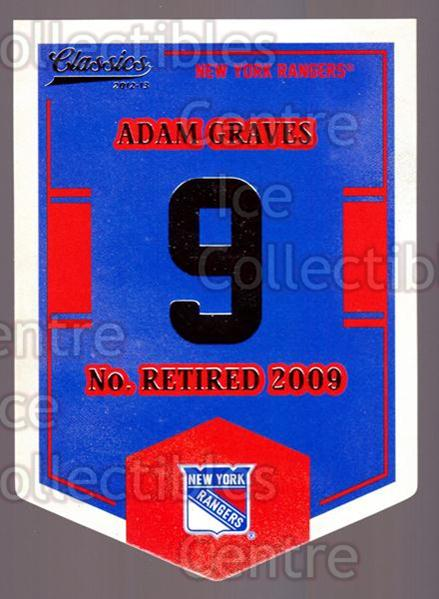 2012-13 Classics Signatures Banner Numbers #54 Adam Graves<br/>5 In Stock - $3.00 each - <a href=https://centericecollectibles.foxycart.com/cart?name=2012-13%20Classics%20Signatures%20Banner%20Numbers%20%2354%20Adam%20Graves...&quantity_max=5&price=$3.00&code=653970 class=foxycart> Buy it now! </a>