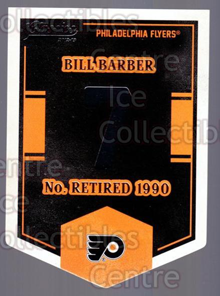 2012-13 Classics Signatures Banner Numbers #57 Bill Barber<br/>3 In Stock - $3.00 each - <a href=https://centericecollectibles.foxycart.com/cart?name=2012-13%20Classics%20Signatures%20Banner%20Numbers%20%2357%20Bill%20Barber...&quantity_max=3&price=$3.00&code=653973 class=foxycart> Buy it now! </a>