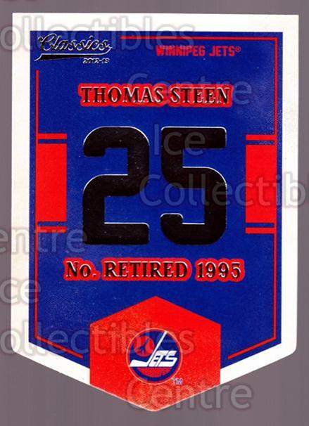 2012-13 Classics Signatures Banner Numbers #71 Thomas Steen<br/>1 In Stock - $3.00 each - <a href=https://centericecollectibles.foxycart.com/cart?name=2012-13%20Classics%20Signatures%20Banner%20Numbers%20%2371%20Thomas%20Steen...&quantity_max=1&price=$3.00&code=653987 class=foxycart> Buy it now! </a>