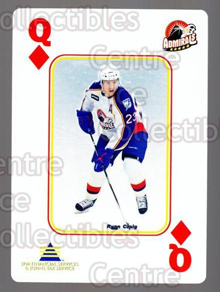 2009-10 Norfolk Admirals Playing Card #12 Ryan Craig<br/>2 In Stock - $3.00 each - <a href=https://centericecollectibles.foxycart.com/cart?name=2009-10%20Norfolk%20Admirals%20Playing%20Card%20%2312%20Ryan%20Craig...&price=$3.00&code=654003 class=foxycart> Buy it now! </a>