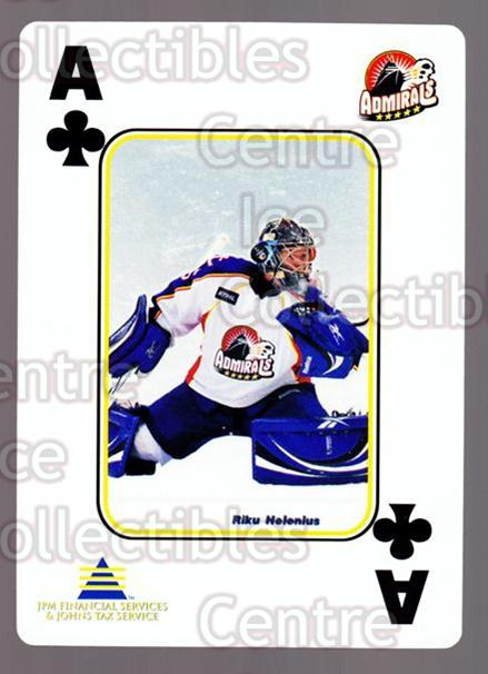2009-10 Norfolk Admirals Playing Card #14 Riku Helenius<br/>2 In Stock - $3.00 each - <a href=https://centericecollectibles.foxycart.com/cart?name=2009-10%20Norfolk%20Admirals%20Playing%20Card%20%2314%20Riku%20Helenius...&price=$3.00&code=654005 class=foxycart> Buy it now! </a>