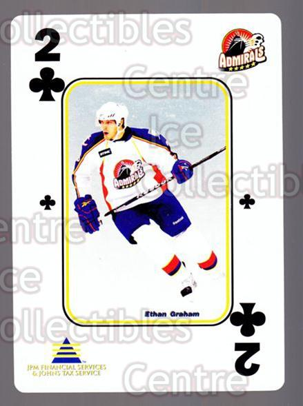 2009-10 Norfolk Admirals Playing Card #15 Ethan Graham<br/>2 In Stock - $3.00 each - <a href=https://centericecollectibles.foxycart.com/cart?name=2009-10%20Norfolk%20Admirals%20Playing%20Card%20%2315%20Ethan%20Graham...&price=$3.00&code=654006 class=foxycart> Buy it now! </a>