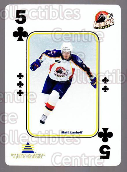 2009-10 Norfolk Admirals Playing Card #18 Matt Lashoff<br/>2 In Stock - $3.00 each - <a href=https://centericecollectibles.foxycart.com/cart?name=2009-10%20Norfolk%20Admirals%20Playing%20Card%20%2318%20Matt%20Lashoff...&price=$3.00&code=654009 class=foxycart> Buy it now! </a>