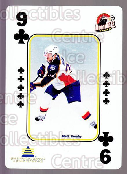 2009-10 Norfolk Admirals Playing Card #22 Matt Smaby<br/>2 In Stock - $3.00 each - <a href=https://centericecollectibles.foxycart.com/cart?name=2009-10%20Norfolk%20Admirals%20Playing%20Card%20%2322%20Matt%20Smaby...&price=$3.00&code=654013 class=foxycart> Buy it now! </a>