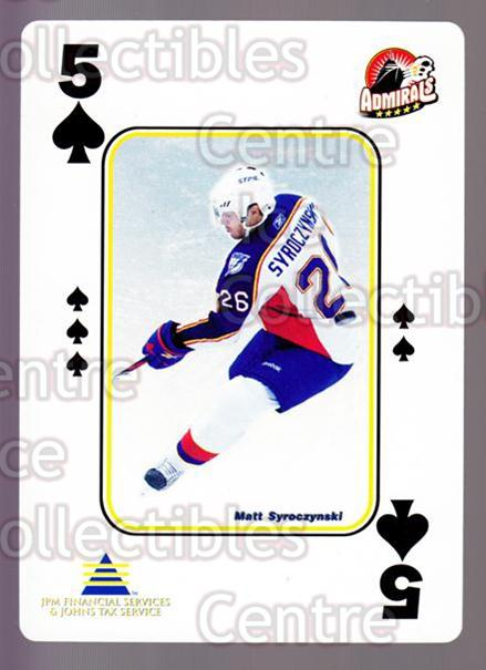 2009-10 Norfolk Admirals Playing Card #31 Matt Syroczynski<br/>1 In Stock - $3.00 each - <a href=https://centericecollectibles.foxycart.com/cart?name=2009-10%20Norfolk%20Admirals%20Playing%20Card%20%2331%20Matt%20Syroczynsk...&price=$3.00&code=654022 class=foxycart> Buy it now! </a>