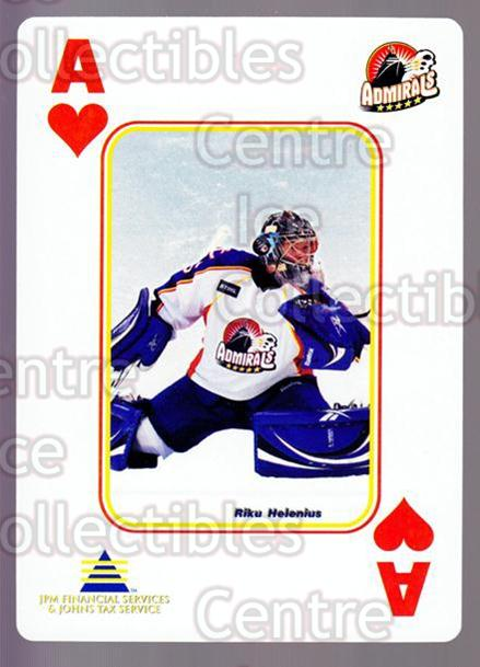 2009-10 Norfolk Admirals Playing Card #40 Riku Helenius<br/>2 In Stock - $3.00 each - <a href=https://centericecollectibles.foxycart.com/cart?name=2009-10%20Norfolk%20Admirals%20Playing%20Card%20%2340%20Riku%20Helenius...&price=$3.00&code=654031 class=foxycart> Buy it now! </a>