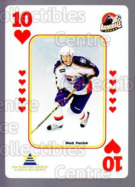 2009-10 Norfolk Admirals Playing Card #49 Mark Parrish<br/>2 In Stock - $3.00 each - <a href=https://centericecollectibles.foxycart.com/cart?name=2009-10%20Norfolk%20Admirals%20Playing%20Card%20%2349%20Mark%20Parrish...&quantity_max=2&price=$3.00&code=654040 class=foxycart> Buy it now! </a>