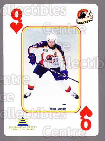 2009-10 Norfolk Admirals Playing Card #51 Mike Lundin<br/>2 In Stock - $3.00 each - <a href=https://centericecollectibles.foxycart.com/cart?name=2009-10%20Norfolk%20Admirals%20Playing%20Card%20%2351%20Mike%20Lundin...&price=$3.00&code=654042 class=foxycart> Buy it now! </a>