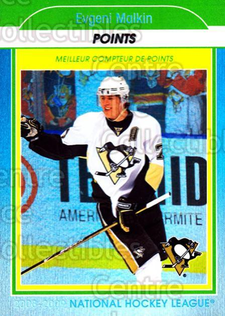 2009-10 O-Pee-Chee Stat Leaders #1 Evgeni Malkin<br/>1 In Stock - $3.00 each - <a href=https://centericecollectibles.foxycart.com/cart?name=2009-10%20O-Pee-Chee%20Stat%20Leaders%20%231%20Evgeni%20Malkin...&price=$3.00&code=654125 class=foxycart> Buy it now! </a>