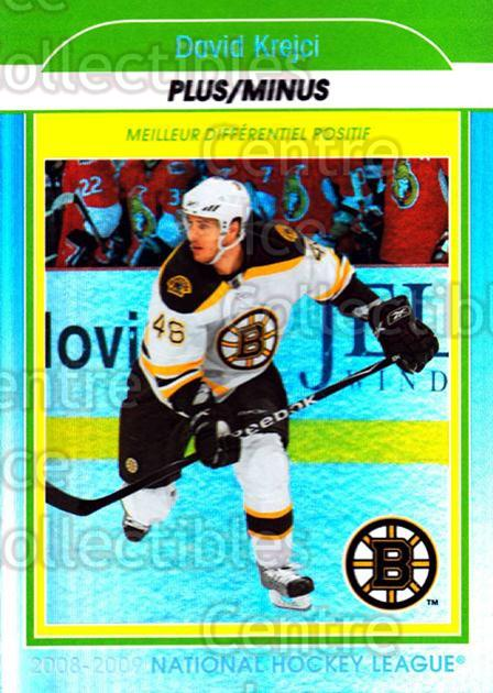 2009-10 O-Pee-Chee Stat Leaders #5 David Krejci<br/>1 In Stock - $2.00 each - <a href=https://centericecollectibles.foxycart.com/cart?name=2009-10%20O-Pee-Chee%20Stat%20Leaders%20%235%20David%20Krejci...&price=$2.00&code=654129 class=foxycart> Buy it now! </a>