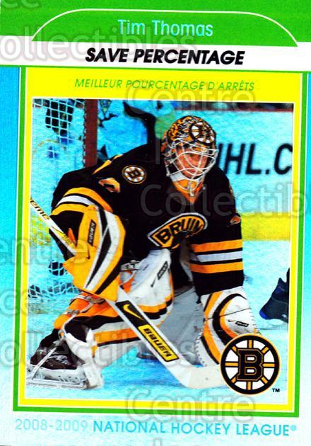 2009-10 O-Pee-Chee Stat Leaders #16 Tim Thomas<br/>1 In Stock - $2.00 each - <a href=https://centericecollectibles.foxycart.com/cart?name=2009-10%20O-Pee-Chee%20Stat%20Leaders%20%2316%20Tim%20Thomas...&price=$2.00&code=654140 class=foxycart> Buy it now! </a>