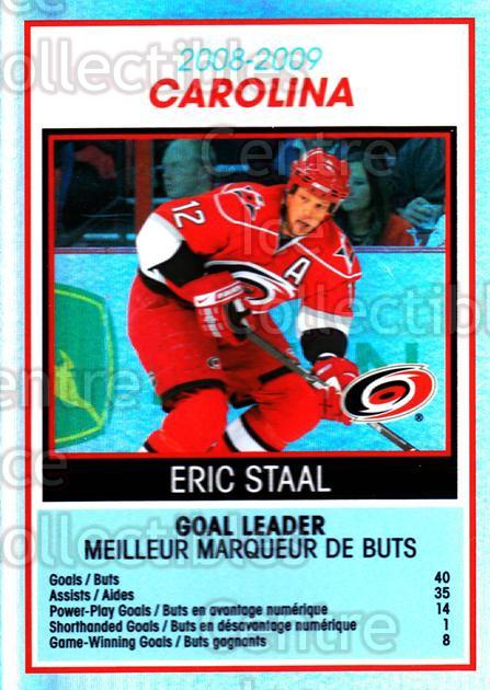 2009-10 O-Pee-Chee Team Checklists #6 Eric Staal<br/>1 In Stock - $2.00 each - <a href=https://centericecollectibles.foxycart.com/cart?name=2009-10%20O-Pee-Chee%20Team%20Checklists%20%236%20Eric%20Staal...&quantity_max=1&price=$2.00&code=654147 class=foxycart> Buy it now! </a>