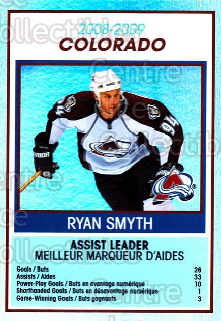 2009-10 O-Pee-Chee Team Checklists #8 Ryan Smyth<br/>1 In Stock - $2.00 each - <a href=https://centericecollectibles.foxycart.com/cart?name=2009-10%20O-Pee-Chee%20Team%20Checklists%20%238%20Ryan%20Smyth...&quantity_max=1&price=$2.00&code=654149 class=foxycart> Buy it now! </a>