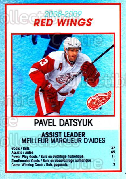 2009-10 O-Pee-Chee Team Checklists #11 Pavel Datsyuk<br/>1 In Stock - $2.00 each - <a href=https://centericecollectibles.foxycart.com/cart?name=2009-10%20O-Pee-Chee%20Team%20Checklists%20%2311%20Pavel%20Datsyuk...&quantity_max=1&price=$2.00&code=654152 class=foxycart> Buy it now! </a>