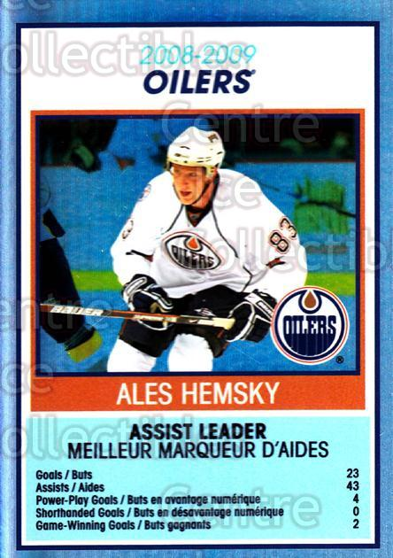 2009-10 O-Pee-Chee Team Checklists #12 Ales Hemsky<br/>1 In Stock - $2.00 each - <a href=https://centericecollectibles.foxycart.com/cart?name=2009-10%20O-Pee-Chee%20Team%20Checklists%20%2312%20Ales%20Hemsky...&quantity_max=1&price=$2.00&code=654153 class=foxycart> Buy it now! </a>