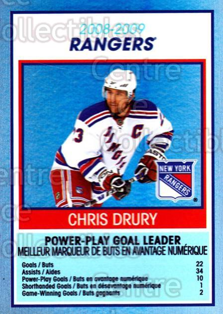 2009-10 O-Pee-Chee Team Checklists #20 Chris Drury<br/>1 In Stock - $2.00 each - <a href=https://centericecollectibles.foxycart.com/cart?name=2009-10%20O-Pee-Chee%20Team%20Checklists%20%2320%20Chris%20Drury...&quantity_max=1&price=$2.00&code=654161 class=foxycart> Buy it now! </a>