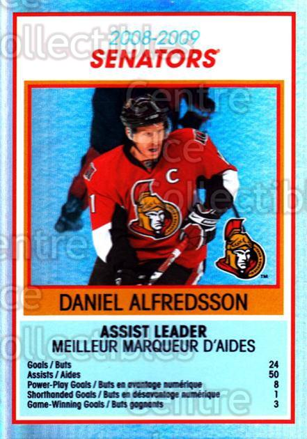 2009-10 O-Pee-Chee Team Checklists #21 Daniel Alfredsson<br/>1 In Stock - $2.00 each - <a href=https://centericecollectibles.foxycart.com/cart?name=2009-10%20O-Pee-Chee%20Team%20Checklists%20%2321%20Daniel%20Alfredss...&quantity_max=1&price=$2.00&code=654162 class=foxycart> Buy it now! </a>