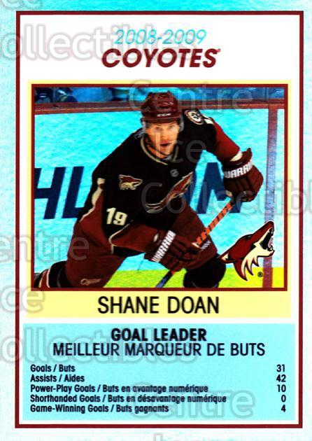 2009-10 O-Pee-Chee Team Checklists #23 Shane Doan<br/>1 In Stock - $2.00 each - <a href=https://centericecollectibles.foxycart.com/cart?name=2009-10%20O-Pee-Chee%20Team%20Checklists%20%2323%20Shane%20Doan...&quantity_max=1&price=$2.00&code=654164 class=foxycart> Buy it now! </a>