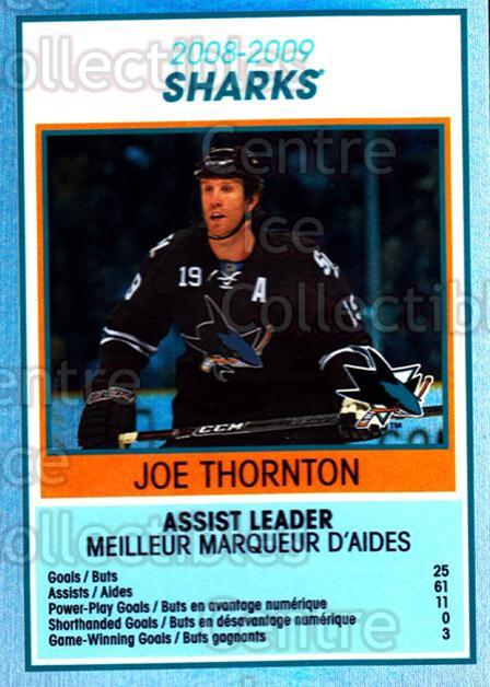 2009-10 O-Pee-Chee Team Checklists #25 Joe Thornton<br/>1 In Stock - $2.00 each - <a href=https://centericecollectibles.foxycart.com/cart?name=2009-10%20O-Pee-Chee%20Team%20Checklists%20%2325%20Joe%20Thornton...&quantity_max=1&price=$2.00&code=654166 class=foxycart> Buy it now! </a>