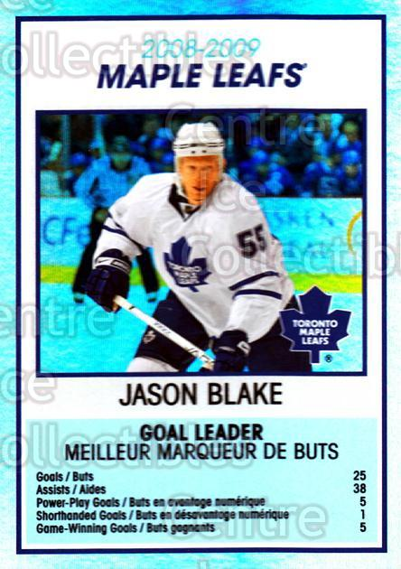 2009-10 O-Pee-Chee Team Checklists #28 Jason Blake<br/>1 In Stock - $2.00 each - <a href=https://centericecollectibles.foxycart.com/cart?name=2009-10%20O-Pee-Chee%20Team%20Checklists%20%2328%20Jason%20Blake...&quantity_max=1&price=$2.00&code=654169 class=foxycart> Buy it now! </a>