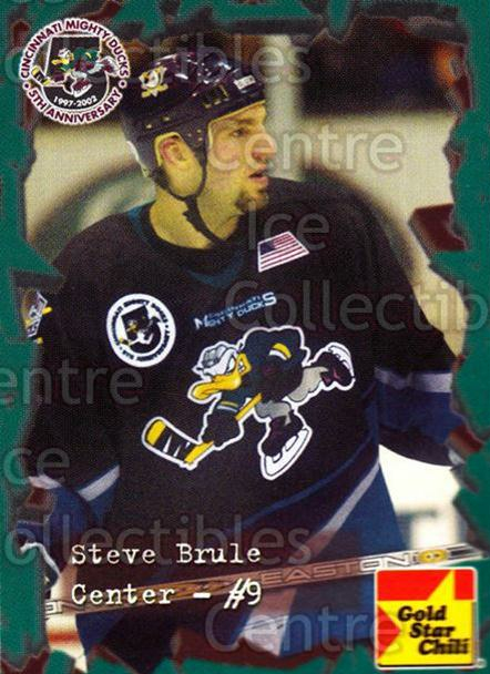 2001-02 Cincinnati Mighty Ducks #24 Steve Brule<br/>1 In Stock - $3.00 each - <a href=https://centericecollectibles.foxycart.com/cart?name=2001-02%20Cincinnati%20Mighty%20Ducks%20%2324%20Steve%20Brule...&quantity_max=1&price=$3.00&code=654266 class=foxycart> Buy it now! </a>