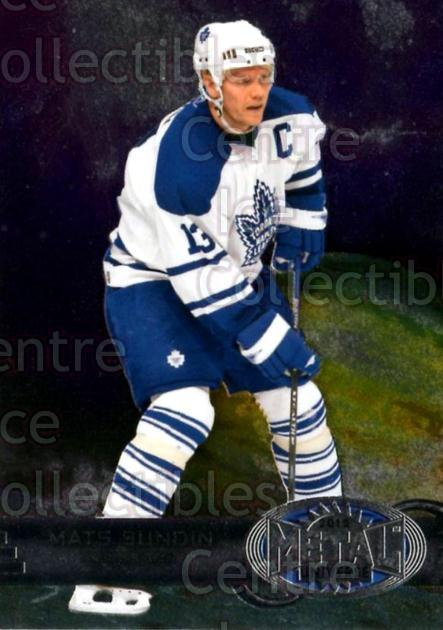 2012-13 Fleer Retro Metal Universe #30 Mats Sundin<br/>1 In Stock - $3.00 each - <a href=https://centericecollectibles.foxycart.com/cart?name=2012-13%20Fleer%20Retro%20Metal%20Universe%20%2330%20Mats%20Sundin...&quantity_max=1&price=$3.00&code=654300 class=foxycart> Buy it now! </a>