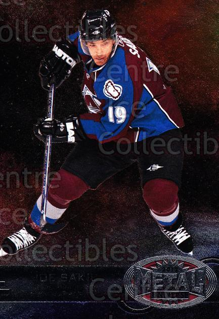 2012-13 Fleer Retro Metal Universe #55 Joe Sakic<br/>1 In Stock - $3.00 each - <a href=https://centericecollectibles.foxycart.com/cart?name=2012-13%20Fleer%20Retro%20Metal%20Universe%20%2355%20Joe%20Sakic...&quantity_max=1&price=$3.00&code=654325 class=foxycart> Buy it now! </a>