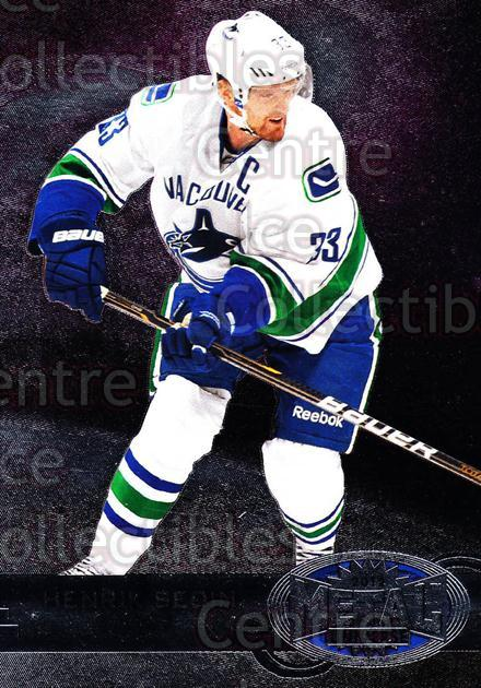2012-13 Fleer Retro Metal Universe #59 Henrik Sedin<br/>1 In Stock - $3.00 each - <a href=https://centericecollectibles.foxycart.com/cart?name=2012-13%20Fleer%20Retro%20Metal%20Universe%20%2359%20Henrik%20Sedin...&quantity_max=1&price=$3.00&code=654329 class=foxycart> Buy it now! </a>