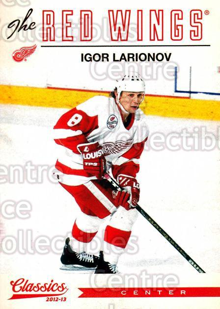 2012-13 Classics Signatures #61 Igor Larionov<br/>2 In Stock - $2.00 each - <a href=https://centericecollectibles.foxycart.com/cart?name=2012-13%20Classics%20Signatures%20%2361%20Igor%20Larionov...&quantity_max=2&price=$2.00&code=654441 class=foxycart> Buy it now! </a>