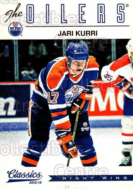 2012-13 Classics Signatures #95 Jari Kurri<br/>5 In Stock - $2.00 each - <a href=https://centericecollectibles.foxycart.com/cart?name=2012-13%20Classics%20Signatures%20%2395%20Jari%20Kurri...&quantity_max=5&price=$2.00&code=654475 class=foxycart> Buy it now! </a>