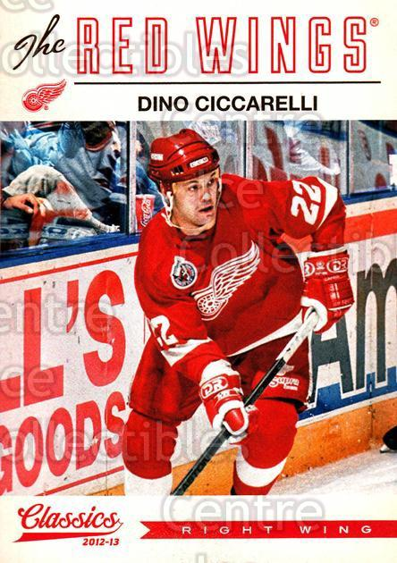 2012-13 Classics Signatures #105 Dino Ciccarelli<br/>3 In Stock - $2.00 each - <a href=https://centericecollectibles.foxycart.com/cart?name=2012-13%20Classics%20Signatures%20%23105%20Dino%20Ciccarelli...&quantity_max=3&price=$2.00&code=654485 class=foxycart> Buy it now! </a>