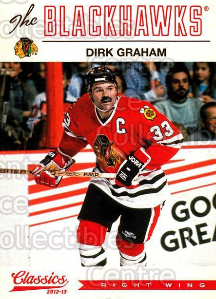 2012-13 Classics Signatures #122 Dirk Graham<br/>4 In Stock - $2.00 each - <a href=https://centericecollectibles.foxycart.com/cart?name=2012-13%20Classics%20Signatures%20%23122%20Dirk%20Graham...&quantity_max=4&price=$2.00&code=654502 class=foxycart> Buy it now! </a>