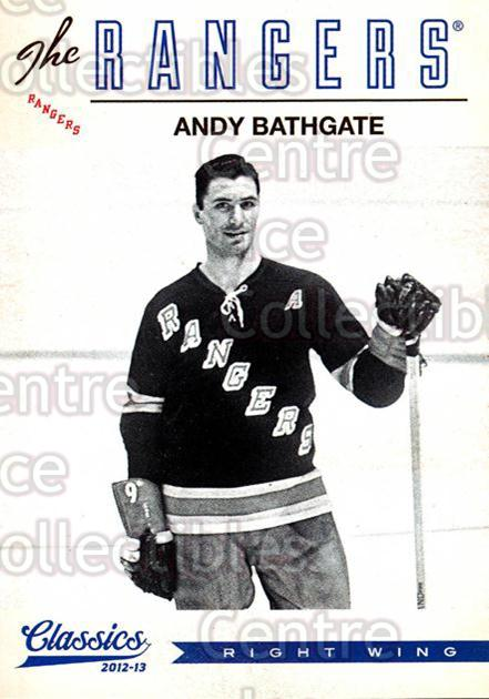 2012-13 Classics Signatures #160 Andy Bathgate<br/>4 In Stock - $2.00 each - <a href=https://centericecollectibles.foxycart.com/cart?name=2012-13%20Classics%20Signatures%20%23160%20Andy%20Bathgate...&quantity_max=4&price=$2.00&code=654540 class=foxycart> Buy it now! </a>