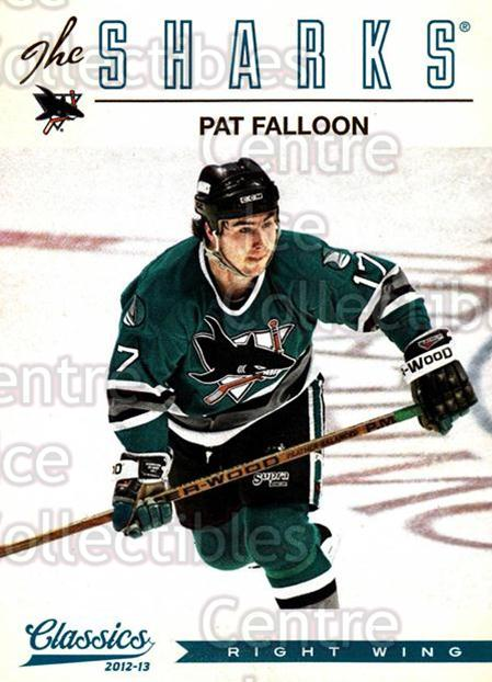 2012-13 Classics Signatures #172 Pat Falloon<br/>2 In Stock - $2.00 each - <a href=https://centericecollectibles.foxycart.com/cart?name=2012-13%20Classics%20Signatures%20%23172%20Pat%20Falloon...&quantity_max=2&price=$2.00&code=654552 class=foxycart> Buy it now! </a>