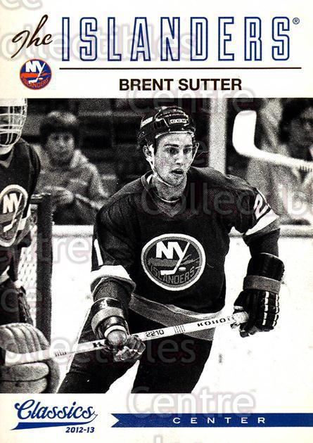2012-13 Classics Signatures #179 Brent Sutter<br/>5 In Stock - $2.00 each - <a href=https://centericecollectibles.foxycart.com/cart?name=2012-13%20Classics%20Signatures%20%23179%20Brent%20Sutter...&quantity_max=5&price=$2.00&code=654559 class=foxycart> Buy it now! </a>