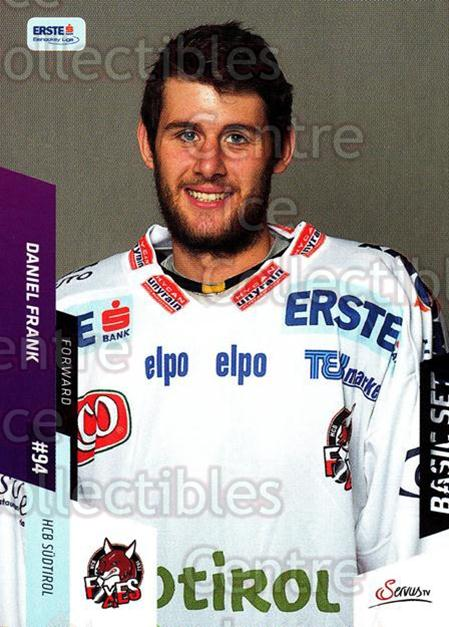 2014-15 Erste Bank Eishockey Liga EBEL Basic #12 Daniel Frank<br/>4 In Stock - $2.00 each - <a href=https://centericecollectibles.foxycart.com/cart?name=2014-15%20Erste%20Bank%20Eishockey%20Liga%20EBEL%20Basic%20%2312%20Daniel%20Frank...&quantity_max=4&price=$2.00&code=654592 class=foxycart> Buy it now! </a>