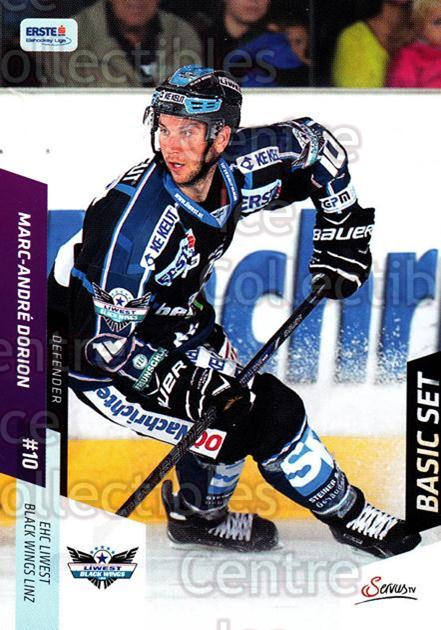 2014-15 Erste Bank Eishockey Liga EBEL Basic #77 Marc-Andre Dorion<br/>4 In Stock - $2.00 each - <a href=https://centericecollectibles.foxycart.com/cart?name=2014-15%20Erste%20Bank%20Eishockey%20Liga%20EBEL%20Basic%20%2377%20Marc-Andre%20Dori...&quantity_max=4&price=$2.00&code=654657 class=foxycart> Buy it now! </a>