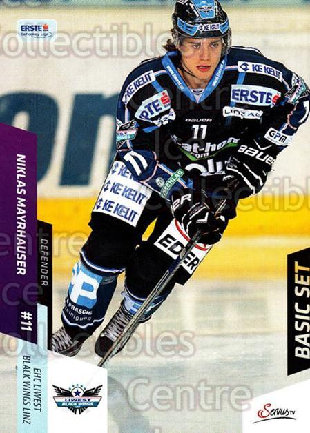 2014-15 Erste Bank Eishockey Liga EBEL Basic #78 Niklas Mayrhauser<br/>4 In Stock - $2.00 each - <a href=https://centericecollectibles.foxycart.com/cart?name=2014-15%20Erste%20Bank%20Eishockey%20Liga%20EBEL%20Basic%20%2378%20Niklas%20Mayrhaus...&quantity_max=4&price=$2.00&code=654658 class=foxycart> Buy it now! </a>