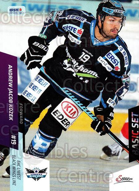2014-15 Erste Bank Eishockey Liga EBEL Basic #89 Andrew Jacob Kozek<br/>4 In Stock - $2.00 each - <a href=https://centericecollectibles.foxycart.com/cart?name=2014-15%20Erste%20Bank%20Eishockey%20Liga%20EBEL%20Basic%20%2389%20Andrew%20Jacob%20Ko...&quantity_max=4&price=$2.00&code=654669 class=foxycart> Buy it now! </a>