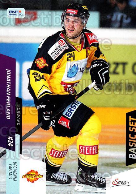 2014-15 Erste Bank Eishockey Liga EBEL Basic #107 Jonathan Ferland<br/>2 In Stock - $2.00 each - <a href=https://centericecollectibles.foxycart.com/cart?name=2014-15%20Erste%20Bank%20Eishockey%20Liga%20EBEL%20Basic%20%23107%20Jonathan%20Ferlan...&quantity_max=2&price=$2.00&code=654687 class=foxycart> Buy it now! </a>