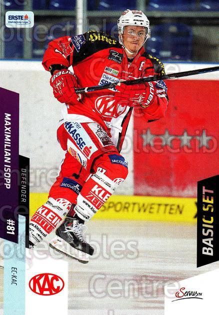 2014-15 Erste Bank Eishockey Liga EBEL Basic #197 Maximilian Isopp<br/>3 In Stock - $2.00 each - <a href=https://centericecollectibles.foxycart.com/cart?name=2014-15%20Erste%20Bank%20Eishockey%20Liga%20EBEL%20Basic%20%23197%20Maximilian%20Isop...&quantity_max=3&price=$2.00&code=654777 class=foxycart> Buy it now! </a>