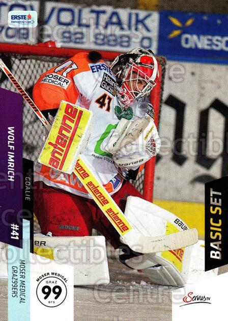 2014-15 Erste Bank Eishockey Liga EBEL Basic #217 Wolf Imrich<br/>4 In Stock - $2.00 each - <a href=https://centericecollectibles.foxycart.com/cart?name=2014-15%20Erste%20Bank%20Eishockey%20Liga%20EBEL%20Basic%20%23217%20Wolf%20Imrich...&quantity_max=4&price=$2.00&code=654797 class=foxycart> Buy it now! </a>