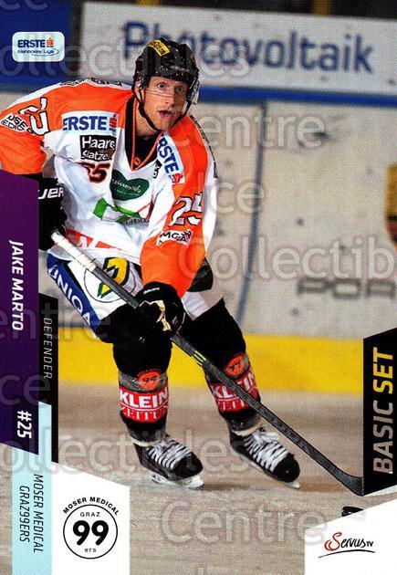 2014-15 Erste Bank Eishockey Liga EBEL Basic #226 Jake Marto<br/>3 In Stock - $2.00 each - <a href=https://centericecollectibles.foxycart.com/cart?name=2014-15%20Erste%20Bank%20Eishockey%20Liga%20EBEL%20Basic%20%23226%20Jake%20Marto...&quantity_max=3&price=$2.00&code=654806 class=foxycart> Buy it now! </a>