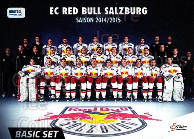 2014-15 Erste Bank Eishockey Liga EBEL Basic #295 Red Bull Salzburg<br/>4 In Stock - $2.00 each - <a href=https://centericecollectibles.foxycart.com/cart?name=2014-15%20Erste%20Bank%20Eishockey%20Liga%20EBEL%20Basic%20%23295%20Red%20Bull%20Salzbu...&quantity_max=4&price=$2.00&code=654875 class=foxycart> Buy it now! </a>
