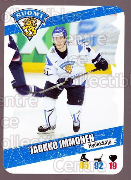 2013-14 Finnish Suomi Leijonakortit #23 Jarkko Immonen<br/>2 In Stock - $3.00 each - <a href=https://centericecollectibles.foxycart.com/cart?name=2013-14%20Finnish%20Suomi%20Leijonakortit%20%2323%20Jarkko%20Immonen...&price=$3.00&code=655911 class=foxycart> Buy it now! </a>