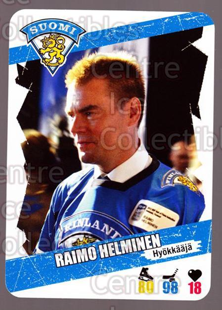 2013-14 Finnish Suomi Leijonakortit #74 Raimo Helminen<br/>3 In Stock - $3.00 each - <a href=https://centericecollectibles.foxycart.com/cart?name=2013-14%20Finnish%20Suomi%20Leijonakortit%20%2374%20Raimo%20Helminen...&price=$3.00&code=655962 class=foxycart> Buy it now! </a>