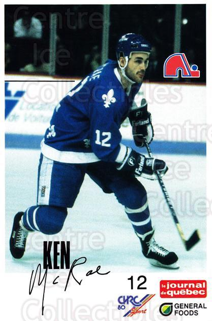 1988-89 Quebec Nordiques General Foods #25 Ken McRae<br/>1 In Stock - $3.00 each - <a href=https://centericecollectibles.foxycart.com/cart?name=1988-89%20Quebec%20Nordiques%20General%20Foods%20%2325%20Ken%20McRae...&quantity_max=1&price=$3.00&code=656003 class=foxycart> Buy it now! </a>