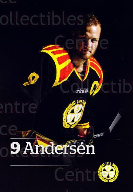 2014-15 Swedish Brynas IF Tigers Postcards #1 Niclas Andersen<br/>1 In Stock - $3.00 each - <a href=https://centericecollectibles.foxycart.com/cart?name=2014-15%20Swedish%20Brynas%20IF%20Tigers%20Postcards%20%231%20Niclas%20Andersen...&quantity_max=1&price=$3.00&code=656083 class=foxycart> Buy it now! </a>